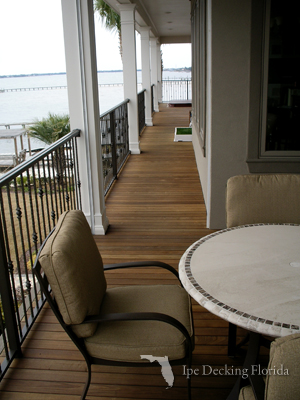 elevated ipe deck in florida