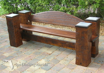 florida bench made of ipe